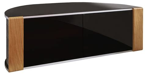 Glass Tv Cabinet With Doors Sirius 1200 Black And Oak Corner Tv Cabinet