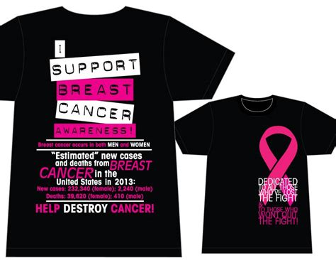 design a shirt for breast cancer breast cancer awareness t shirt design by louvvis on
