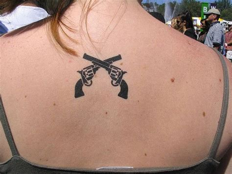 crossed revolver tattoos gun tattoos and designs page 72