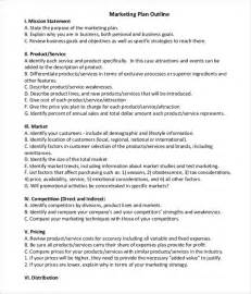 Advertising Caign Plan Outline by 9 Outline Exles In Word Pdf Free Premium Templates