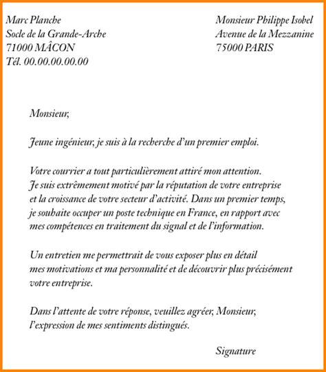 une lettre pour modele de lettre formelle en francais jaoloron