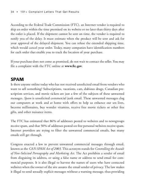 Complaint Letter Result 101 Complaint Letters That Get Results
