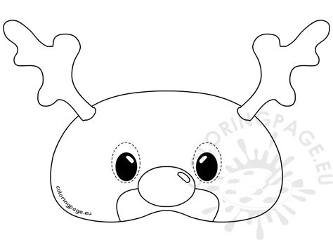 Reindeer Mask Coloring Page | felt reindeer mask rudolph template coloring page