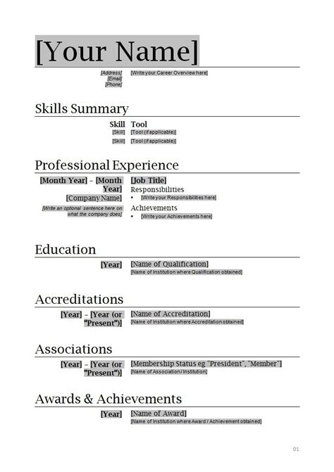 ms word resume template resumes and cover letters office ideas