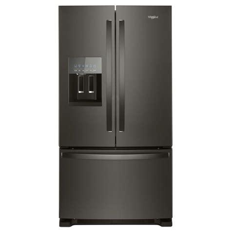 Black Door Refrigerator by Whirlpool 36 In W 25 Cu Ft Door Refrigerator In