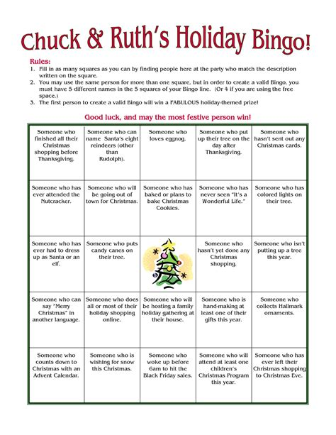 8 best images of printable christmas bingo ice breaker
