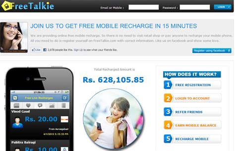 top 5 websites to get free mobile recharge in india
