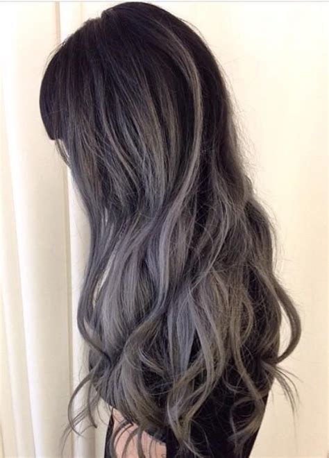 high lighted hair with gray roots 1000 ideas about gray hair highlights on pinterest gray