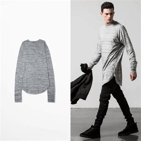 Longline Swag T Shirt Swag T Shirt Younglex 1 swag tyga mens t shirts fashion 2016 gradient lines