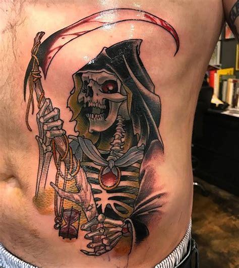 broken art tattoo reaper by mister swan at broken in los