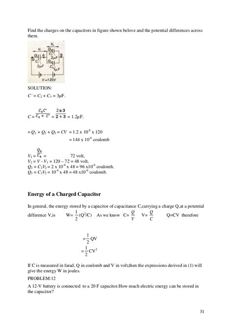what is the charge q1 on capacitor c1 electricity and magnetism 1