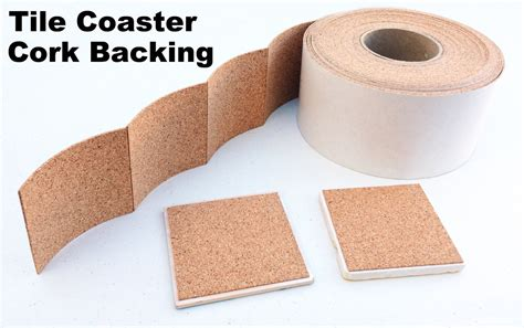 25 cork backing with adhesive for tile coasters 25 pieces