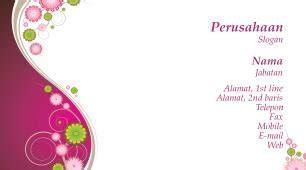 desain kartu nama toko bunga contoh cartu nama foto desain toko bunga