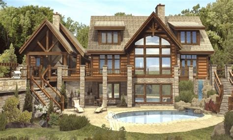 luxury mountain log homes luxury log cabin home plans a