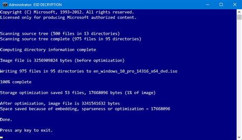 install windows 10 esd how to create a windows 10 iso file using an install esd
