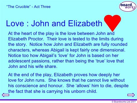 themes of love in the crucible the crucible