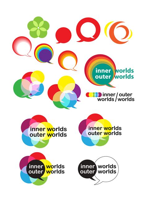 icon design conference logo design for a conference inner worlds outer worlds