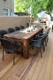 Outdoor Wood Patio Table 25 Best Ideas About Outdoor Tables On Farm Style Kitchen Diy Kitchen Furniture