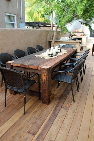 Patio Table Ideas 25 Best Ideas About Outdoor Tables On Farm Style Kitchen Diy Kitchen Furniture