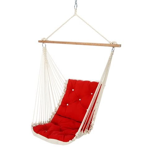 canvas swings canvas jockey red tufted single porch swing
