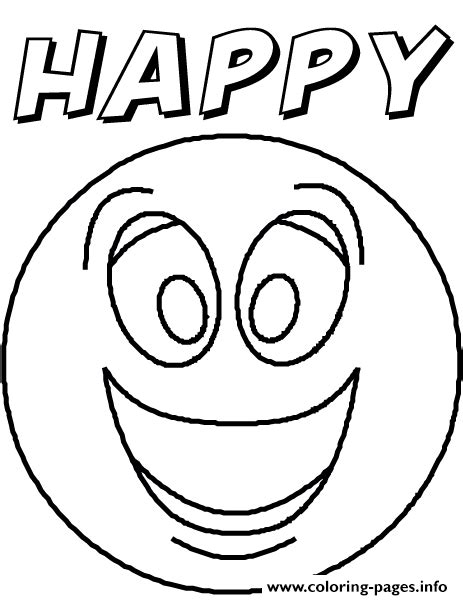 printable coloring pages emotions emotion happyblank coloring pages printable