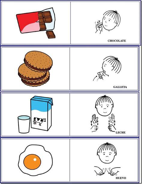 pictogramas alimentos alimentos en lse lengua de signos espa 241 ola