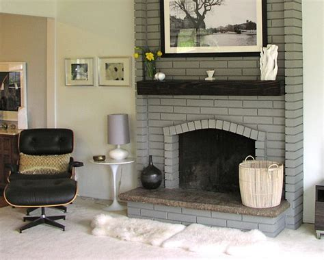 floor charcoal brick fireplace painted 77 best images about fireplaces on hale navy