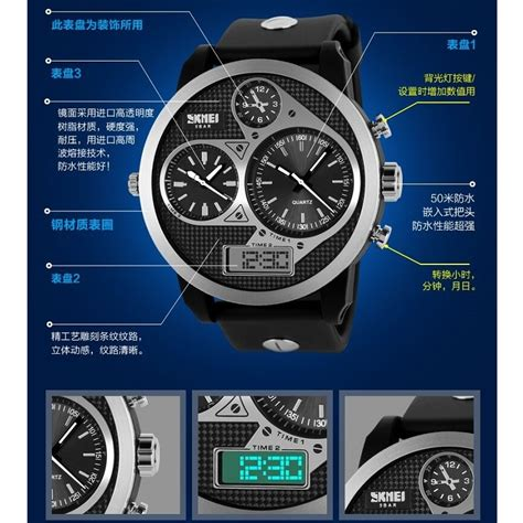 Promo Skmei Casio Sport Led Water Resistant 50m Ad1117 skmei casio sport led water resistant 50m ad1033 blue jakartanotebook