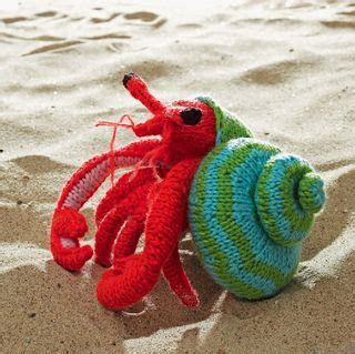 crab knitting pattern crochet hermit crab thinking