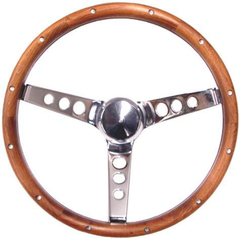 volante maggiolino volante grant 3 razze cromate e impugnatura in legno