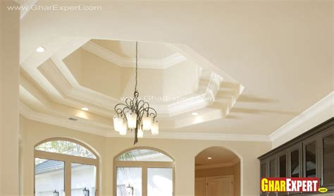 Coved Ceiling Designs by Coved Ceiling Design For Kitchen Gharexpert