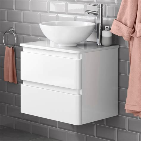 Countertop Sink Units by 600mm Wall Mounted White Bathroom Vanity Unit Countertop