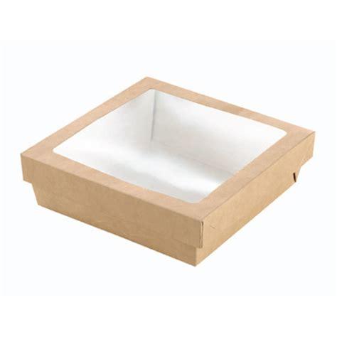scatole alimenti scatola per alimenti monouso in cartone marrone con