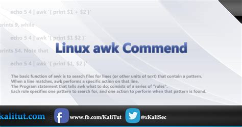 tutorial linux commands linux awk command kalitut tutorial