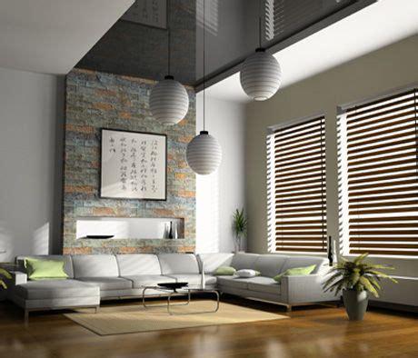 decoracion cortinas salon moderno sal 243 n moderno con cortinas venecianas de madera salon