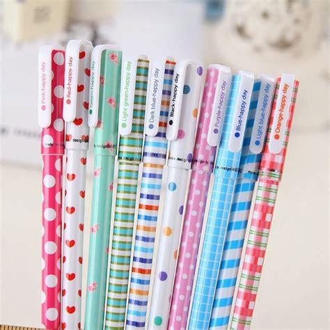 Fina Set 10 canetas coloridas gel ponta fina marca texto kit
