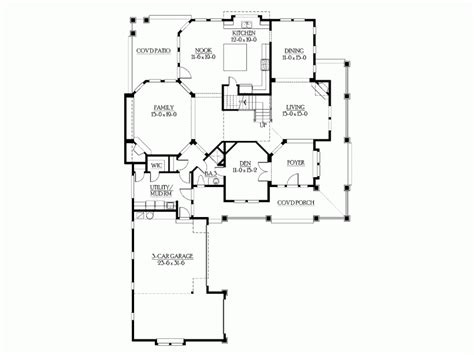corner lot floor plans eplans craftsman house plan bold craftsman for
