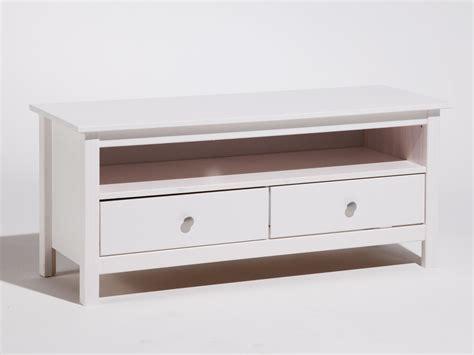 meuble tv bas en bois massif avec 2 tiroirs longueur 110cm