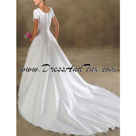 Dress D27 sheer wrap modest wedding dress orchis d27 569 00