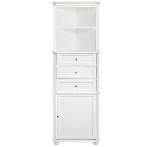 corner linen cabinet bathroom home decorators collection hton bay 23 in w corner linen cabinet in white