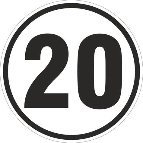 Aufkleber Rund 20 Cm by 20 Km H Aufkleber Auto Lkw Trecker Anh 228 Nger Schlepper 20 Cm
