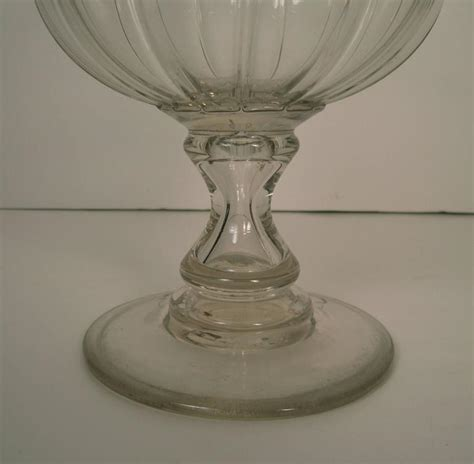 Glass Vases Large by Large Blown Glass Vase Or Goblet Circa 1830 At 1stdibs