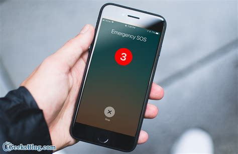 iphone emergency sos how to use emergency sos in ios 11 on iphone