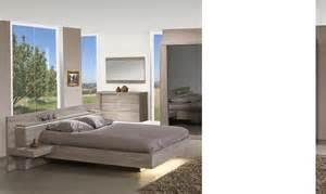 lit avec chevets couleur ch 234 ne clair contemporain