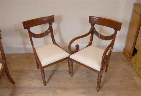 luxury regency table swag chair dining set