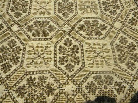Coverlet Fabric antique woven wool coverlet fabric vintage pieced cloth carpet rug