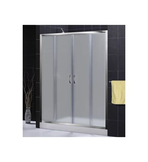 Frosted Glass Sliding Shower Doors Faucet Shdr 1160726 04 Fr In Brushed Nickel