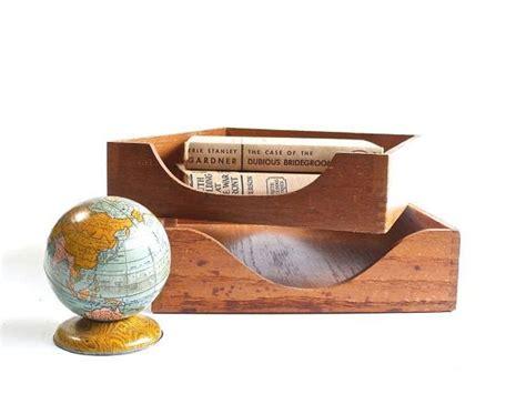 inbox tray for desk vintage wooden desk tray desktop organizer inbox outbox