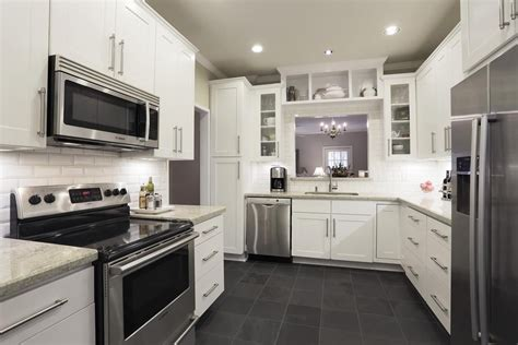 Slate Flooring With White Cabinets Imgkid Com The