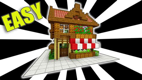 tutorial online shop minecraft how to make a shop easy starter house